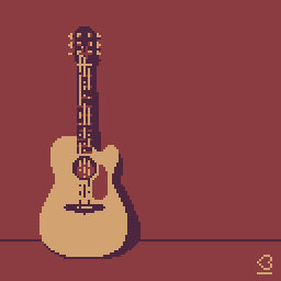 Pixel Dailies: Weapon - Guitar